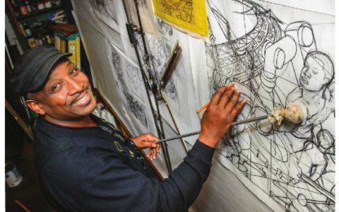 Ambassador Magazine features Hubert's new fresco project